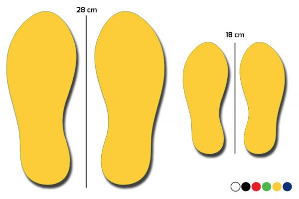 Størrelse på fodspor